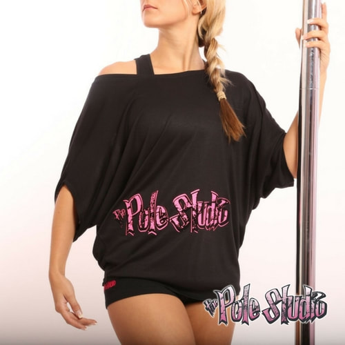 The Pole Studio black off the shoulder top