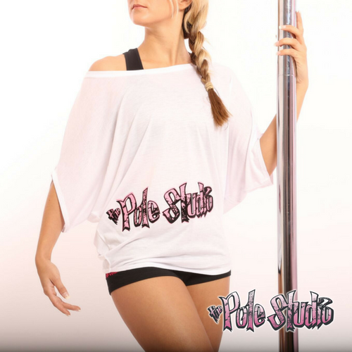 The Pole Studio white off the shoulder top